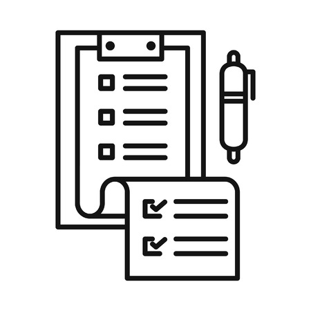 roster: planning clipboard vector illustration design Illustration