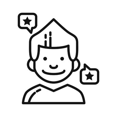 happy client vector illustration design Illustration