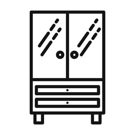 furniture design: office furniture vector illustration design