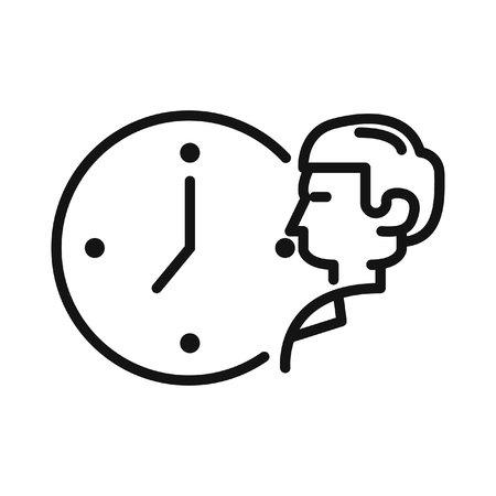 job deadline: working time vector illustration design