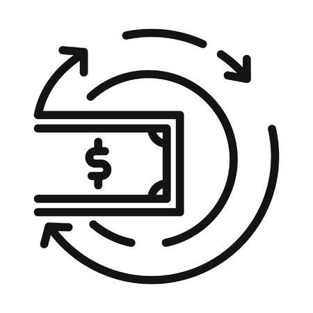 money flow vector illustration design Illustration