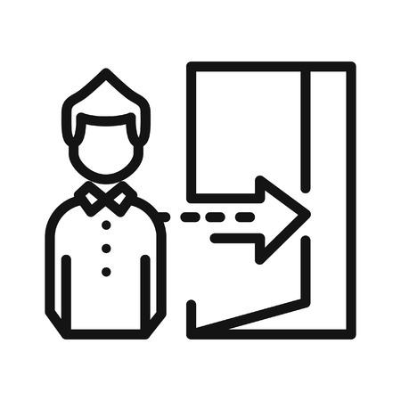 dismissal: staff dismissal vector illustration design