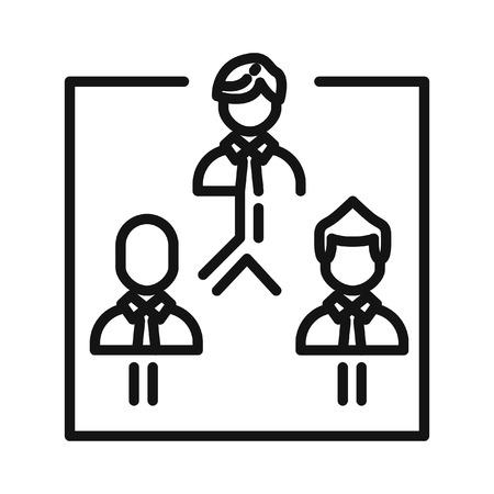 organisational: company structures vector illustration design