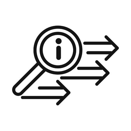 information query search vector illustration design