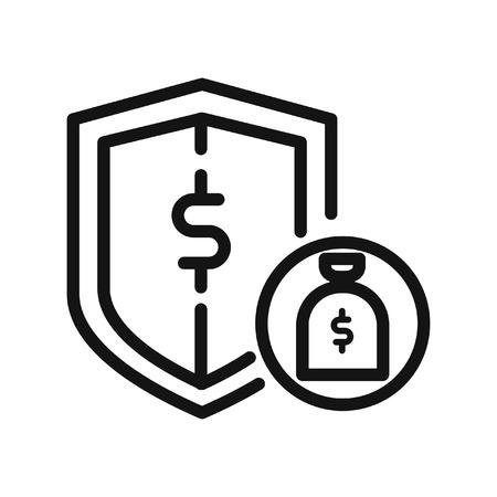 money protection icon illustration design