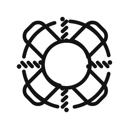 lifebuoy support vector illustration design