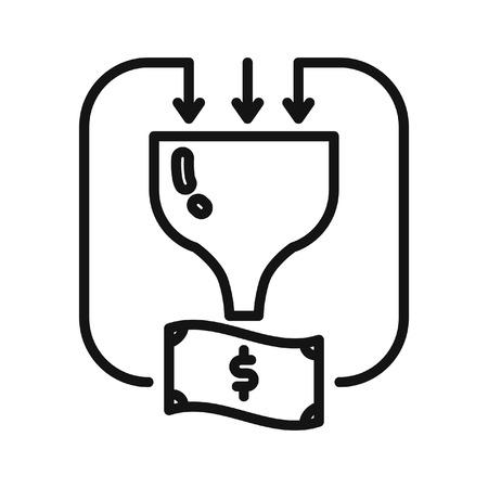 funnel: sales funnel vector illustration design