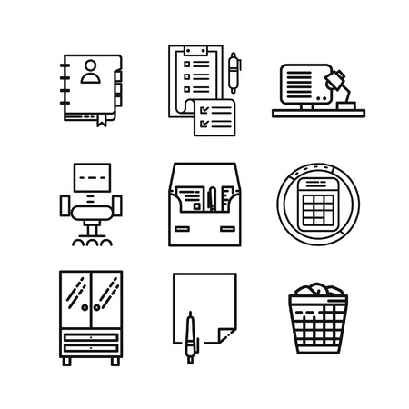 stuff: office stuff icon set 2