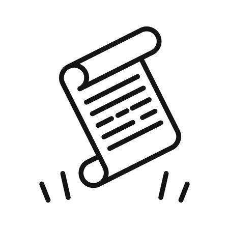 scenario scroll vector illustration design