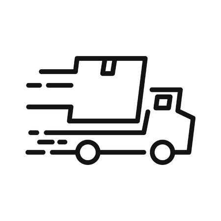 delivery icon: fast delivery  illustration design