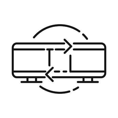 p2p: p2p connection  illustration design Illustration
