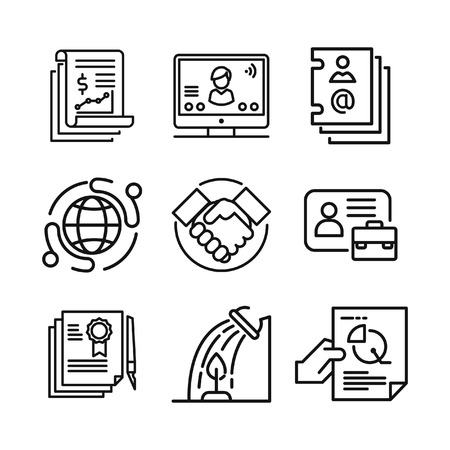 business icon set 2