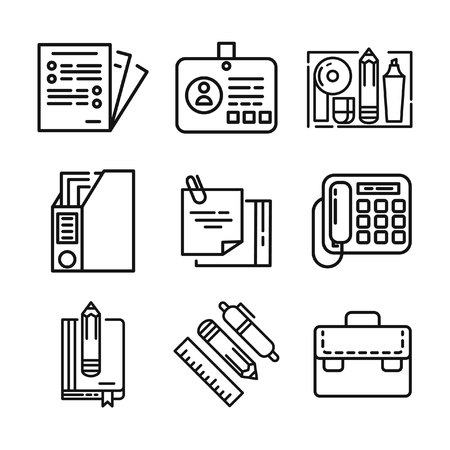 stuff: office stuff icon set