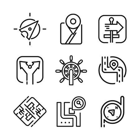 navigational: navigational icon set vector illustration design Illustration