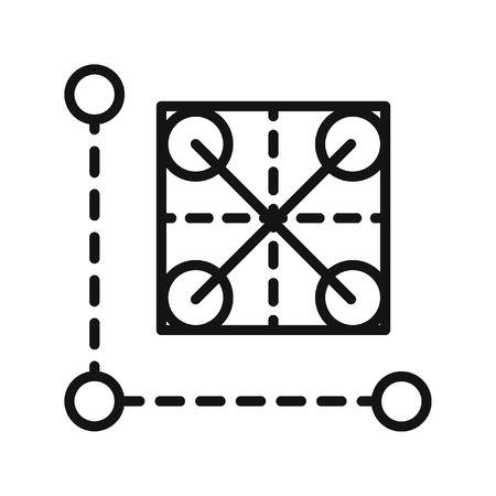 grid: prototype grid vector illustration design