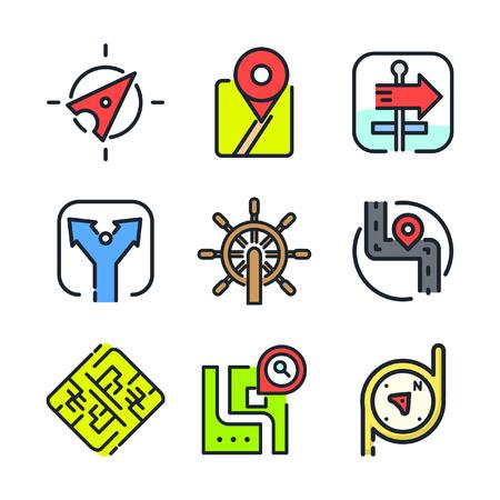 navigational: navigational icon set color