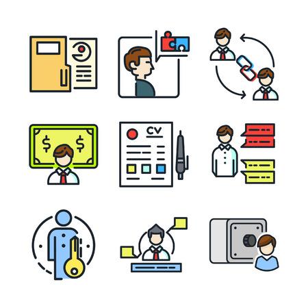 ability to speak: personal work icon set