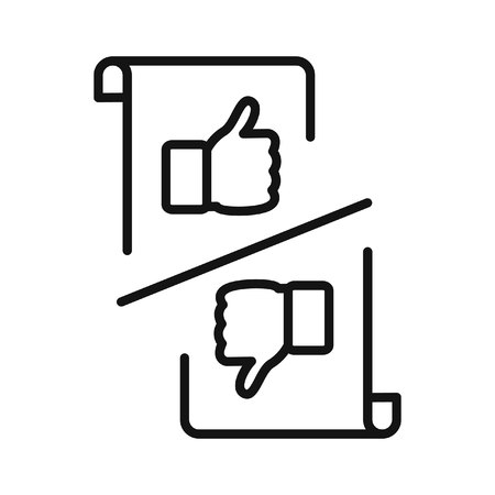 cons: pros and cons icon illustration design