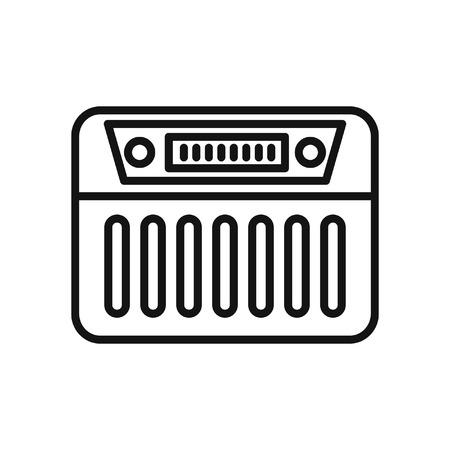 receiver: radio receiver vector illustration design