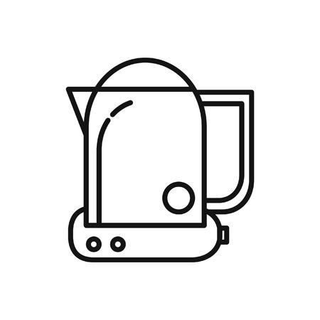 electric tea kettle: electric kettle vector illustration design