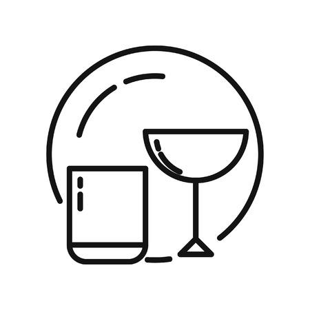 glasswear: kitchen glasswear vector illustration design