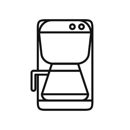 Diseño de ilustración de vector de máquina de café Foto de archivo - 66966757