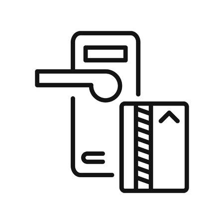 carta di serratura a chiave illustrazione vettoriale progettazione