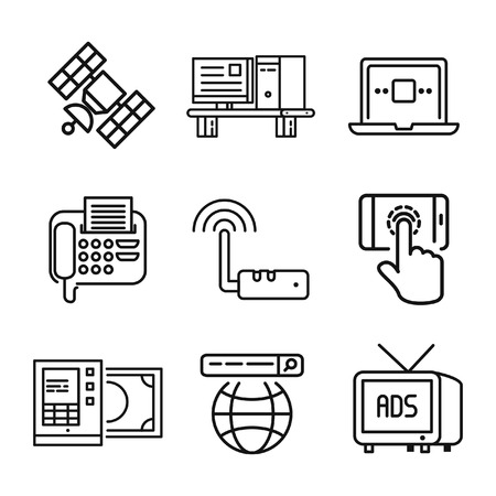 technology icon set vector illustration design