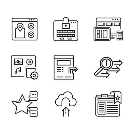 feature: website feature icon set