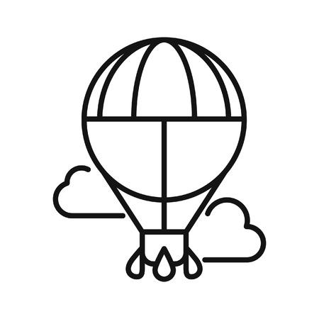 Luftballonfahrt, Illustration, Design Illustration