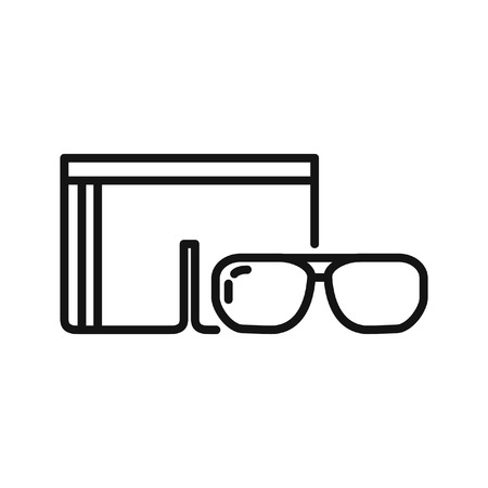 beachwear: sunglasses and swimsuit illustration design