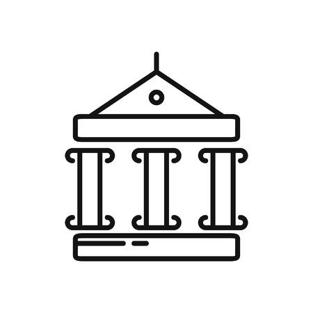 roman pillar: museum architecture illustration design Illustration