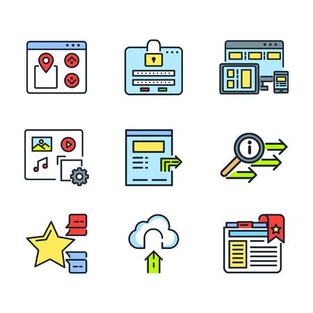 feature: website feature icon set color