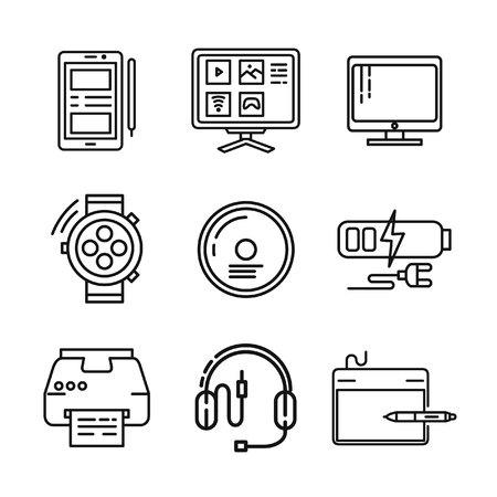 device: device icon set illustration design