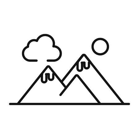 mountain view illustration design