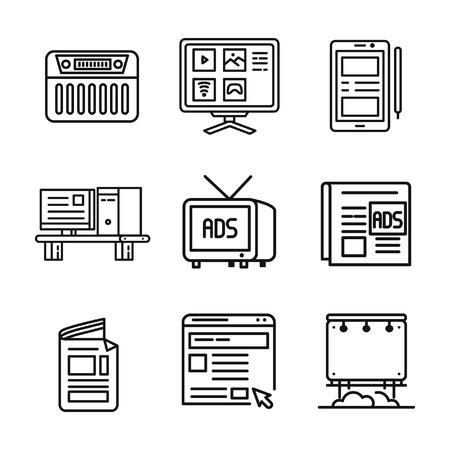 device: media information device icon Illustration