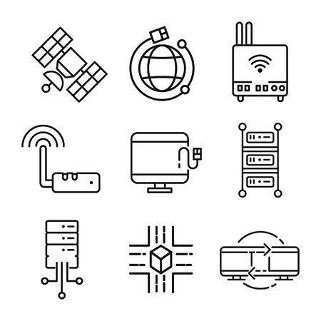device: networking device icon set