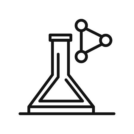 disegno laboratorio di chimica illustrazione