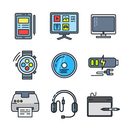 device: device icon set color