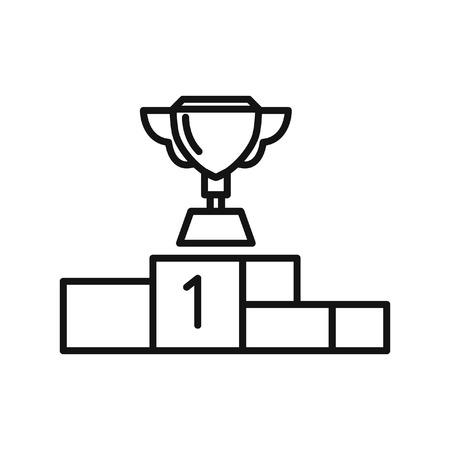 first place: primer lugar pedestal de diseño de la ilustración Vectores