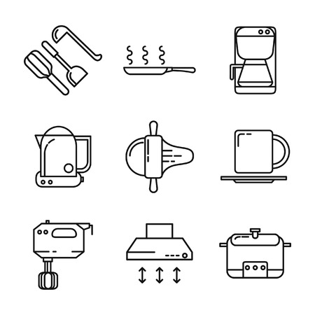 kitchen utensil: kitchen utensil icon set 2