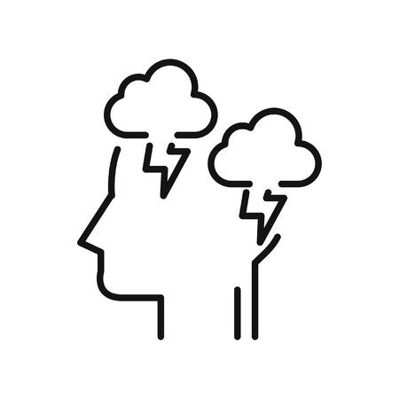 mode: depression mode illustration design