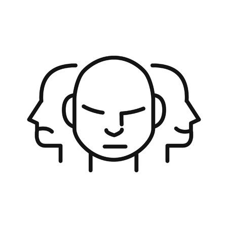 personalidad: la personalidad de carácter, ilustración, diseño