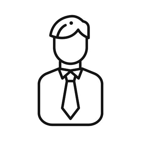 salesman: salesman avatar illustration design