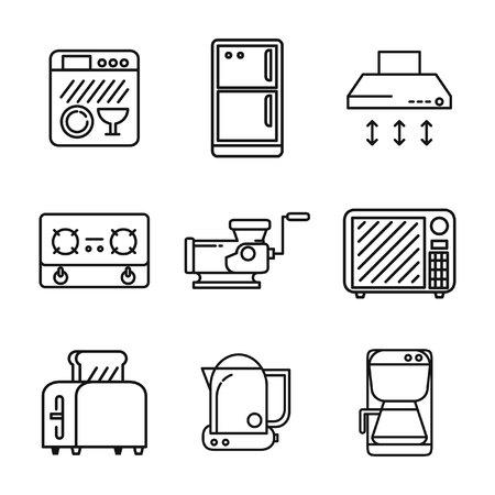 kitchen appliances: kitchen appliances icon set