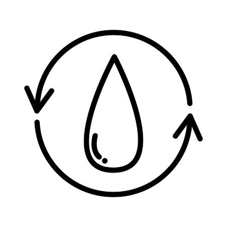 purified water illustration design