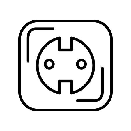 ac: power outlet illustration design