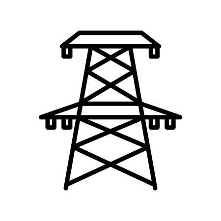 powerlines: electricity tower illustration design Illustration