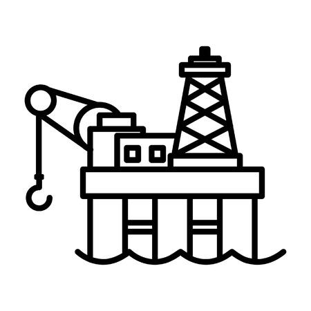 oil platform: offshore oil platform icon
