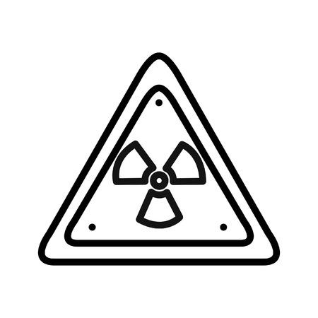radiation warning illustration design Illustration